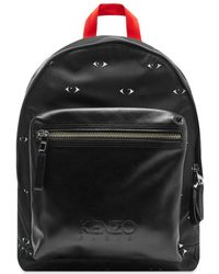 2b8f9c5d879 KENZO Sac A Dos Eyes' Backpack Travel Bag in Black for Men - Lyst