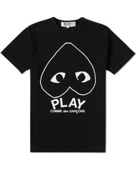 Play Comme des Garçons - Comme Des Garcons Play Inverted Heart Logo Tee - Lyst