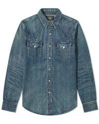 RRL Buffalo Western Shirt - Blue