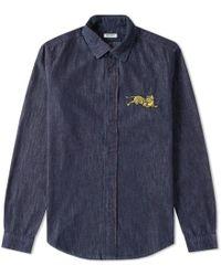 KENZO - Jumping Tiger Denim Shirt - Lyst
