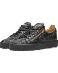 Giuseppe Zanotti - Double Zip Python Leather Low Sneaker - Lyst