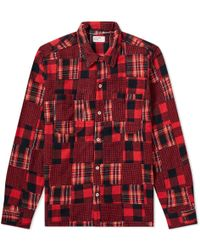 Universal Works - Checked Patchwork Shirt - Lyst