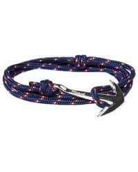 Miansai - Silver Anchor Rope Bracelet - Lyst
