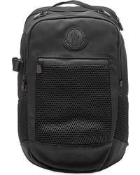 Moncler Canvas & Mesh Hiking Backpack - Black