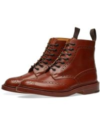 Tricker's - Tricker's Stow Brogue Derby Boot - Lyst