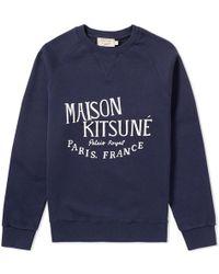 Maison Kitsuné - Maison Kitsuné Palais Royal Crew Sweat - Lyst