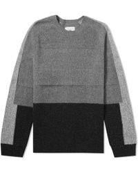 Folk - Panel Texture Crew Knit - Lyst