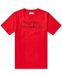 Saturdays NYC - Miller Standard Tee - Lyst