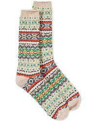 Anonymous Ism - Fair Isle Crew Sock - Lyst