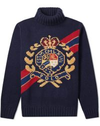 Polo Ralph Lauren - Chunky Crest Roll Neck Knit - Lyst