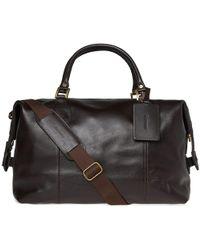 Barbour - Leather Medium Travel Explorer - Lyst