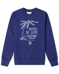 Universal Works - Palm Deluxe Crew Sweat - Lyst