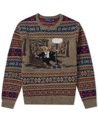 Polo Ralph Lauren - Bear Isle Crew Knit - Lyst
