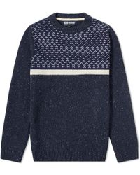 Barbour - Houghton Crew Knit - Lyst