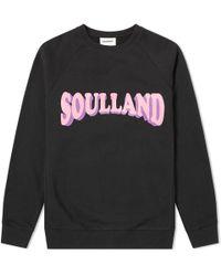 Soulland - Hockney Crew Sweat - Lyst