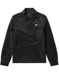 Alexander Wang - Post Black Nylon Patch Coach Jacket - Lyst