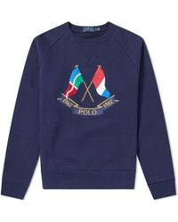 02c29cfc2 ... wholesale polo ralph lauren crossed flags crew sweat lyst a8962 2689d