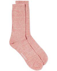 Norse Projects - Bjarki Cotton Linen Sock - Lyst