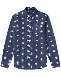 Sophnet - Star Denim B.d Shirt - Lyst