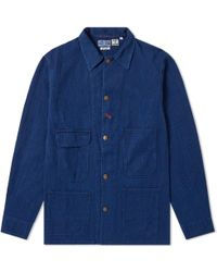 Blue Blue Japan - Sashiko Railroad Worker Jacket - Lyst