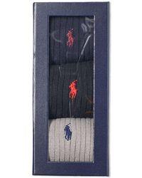 Polo Ralph Lauren - Classic Rib Sock - 3 Pack - Lyst