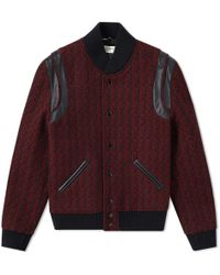 Saint Laurent - Wool Jacquard Teddy Jacket - Lyst