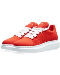 Alexander McQueen - Knitted Wedge Sole Sneaker - Lyst