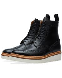 Grenson - Fred V Brogue Boot - Lyst