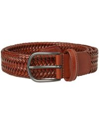 Andersons - Anderson's Stretch Woven Leather Belt - Lyst