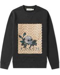 COACH - Signature Tattoo Skull Sweat - Lyst