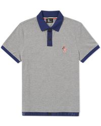 3785be4ca2e7 Moncler Grenoble Short Sleeve Polo in Green for Men - Lyst
