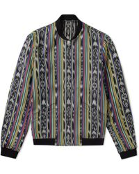 Saint Laurent - Reversible Ikat Pattern Teddy Jacket - Lyst