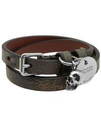 Alexander McQueen - Double Wrap Camo Bracelet - Lyst