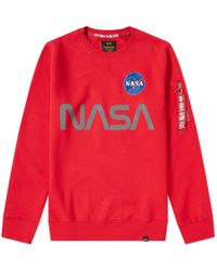 Alpha Industries - Nasa Reflective Crew Sweat - Lyst