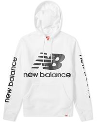 New Balance - Essentials Logo Hoody - Lyst