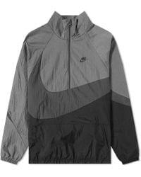 Nike - Nsw Swoosh Woven Half Zip Jacket - Lyst