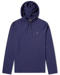 Polo Ralph Lauren - Long Sleeve Hooded Jersey Tee - Lyst