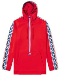 Nike - Taped Poly Half Zip Hooded Sweat - Lyst