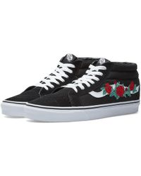 Vans - Sk8-mid Reissue Rose Thorns - Lyst