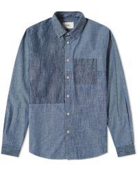 Folk - Panel Chambray Shirt - Lyst