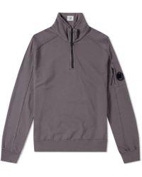 C P Company - Garment Dyed Light Fleece Half Zip Sweat - Lyst