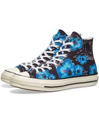 bf2e32271fca Lyst - Converse Chuck Taylor All Star Floral Leather Low Top Sneaker ...