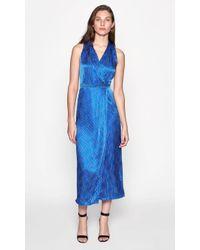 Equipment Katherine Silk Dress - Blue
