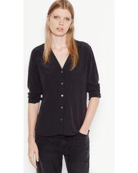 Equipment - Long Sleeve Adalyn Silk Shirt - Lyst