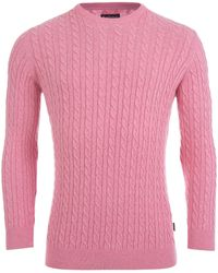 Barbour - Fowey Cable Jumper - Lyst
