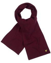 Lyle & Scott - Racked Rib Scarf - Lyst