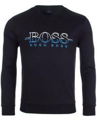 BOSS Athleisure - Salbo Logo Sweatshirt - Lyst