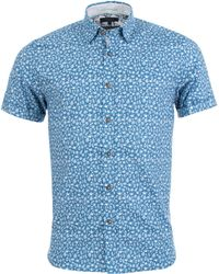 Ted Baker - Pazta Short Sleeve Shirt In Blue - Lyst