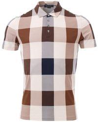 Aquascutum - Cody Vicuna Check Short Sleeve Polo Shirt - Lyst