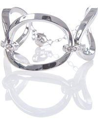 Karen Millen - Oversized Chain Bracelet In Silver - Lyst